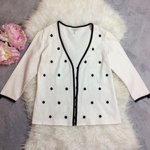 White and black Escada Cardigan